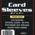 500 BCW BASEBALL / TRADING CARD THICK CARD SLEEVES