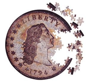Puzzle of the actual Contursi 1794 First Silver Dollar