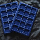 Pack of 2 Blue Velvet Premium Coin Trays for 2x2 Flips