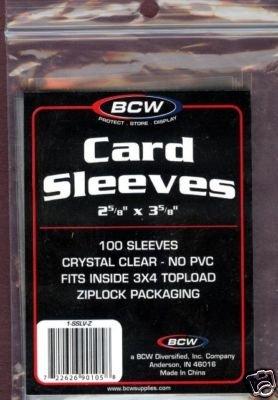 600 NEW BCW BASEBALL / TRANDING CARD SOFT SLEEVES