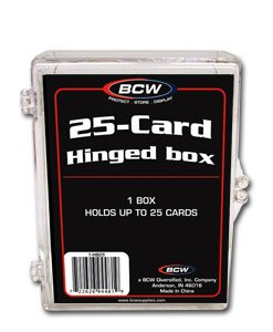 10 BCW 25 CARD HINGED  FOOTBALL / TRANDING CARD BOXES