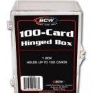 8 BCW 100 CARD HINGED  FOOTBALL / TRANDING CARD BOXES