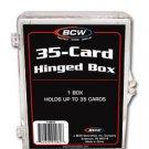 10 BCW 35 CARD HINGED  FOOTBALL / TRANDING CARD BOXES