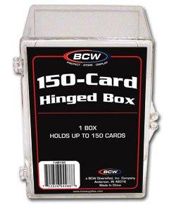 4 BCW 150 CARD HINGED FOOTBALL / TRANDING CARD BOXES