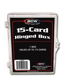 8 NEW BCW 15 CARD HINGED FOOTBALL / TRANDING CARD BOXES