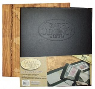 Premium Black Leather Album for PMG Graded Notes New