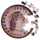 1 Puzzle the actual Contursi 1794 Silver Dollar New