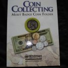 1 Coin Collecting Merit Badge Coin Folder For Kids New