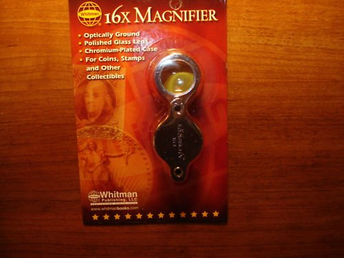 1 WHITMAN 16x FOLDING COIN MAGNIFIER NEW IN PACKAGE