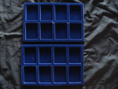 Blue Velvet Slab Trays For PCGS &  NGC 2 Pack NEW