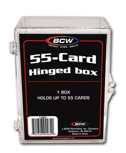10 BCW 55 CARD HINGED FOOTBALL / TRADING CARD BOXES