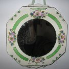Floal Edge Mirror Made From Vintage China Plate