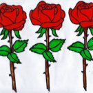 3 red rose set