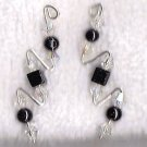 .925 silver Swarovski crystal pin earrings