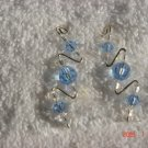 925 Swarovski lite blue crystal pin earrings