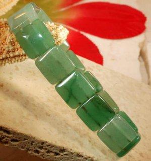 jade gemstone stretch bracelet