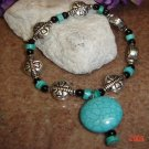 Turquoise & Silver  8in. Pet Necklace