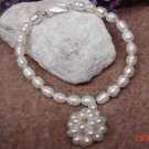 Fresh water pearls 8 in. pet necklace