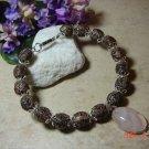 Genuine rose quartz pet necklace size 8