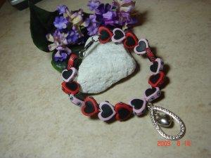 hearts pet necklace size 8