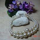 faux white pearl pet necklace size 7