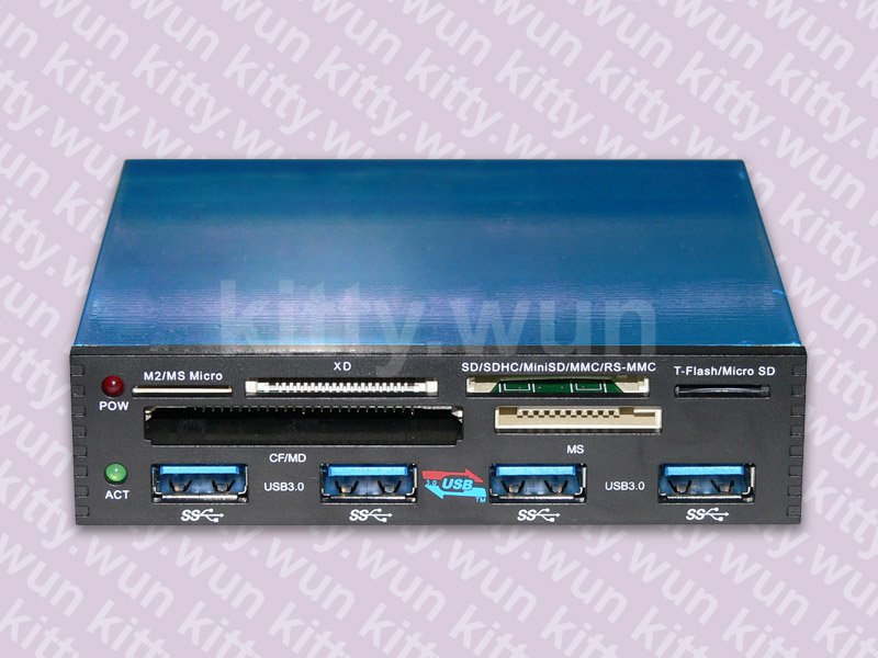 PCI-E to USB 3.0 4 port to front panel + USB 2.0 Card Reader