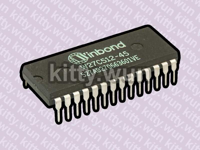 W27C512-45 (64k x 8) 28pin P-DIP NIC bootrom EPROM