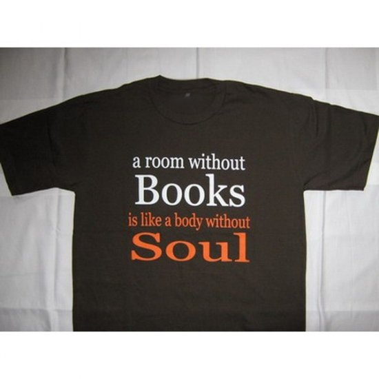 Books and Soul Brown T-Shirt