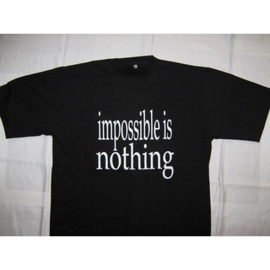 Impossible is Nothing Black T-Shirt