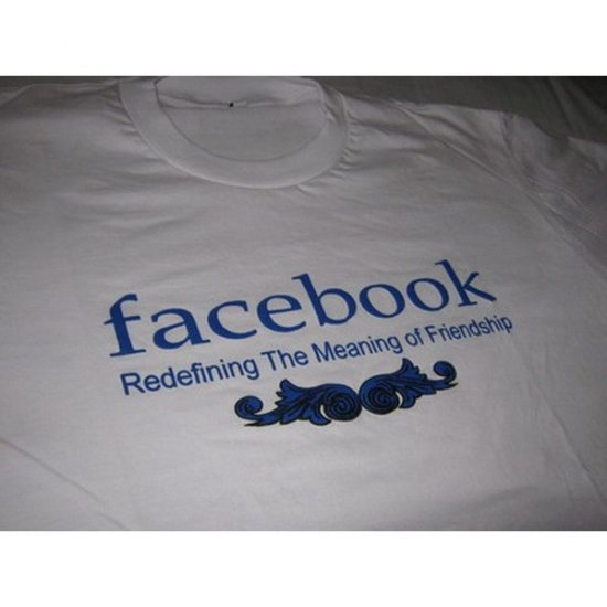 FacebookvRedefining The Meaning of Friendship - White T-Shirt