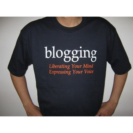 Blogging  Liberating Your Mind  Expressing Your Voice - Black T-Shirt
