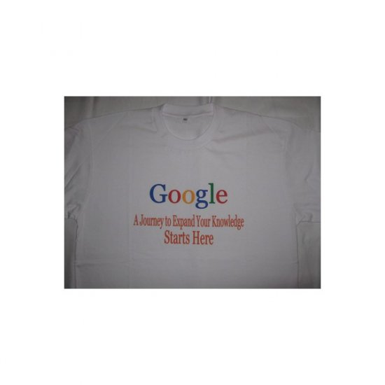 Google A Journey to Expand Your Knowledge  - White T-Shirt