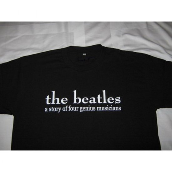 a Story of Four Genius Musicians The Beatles - Black T-Shirt