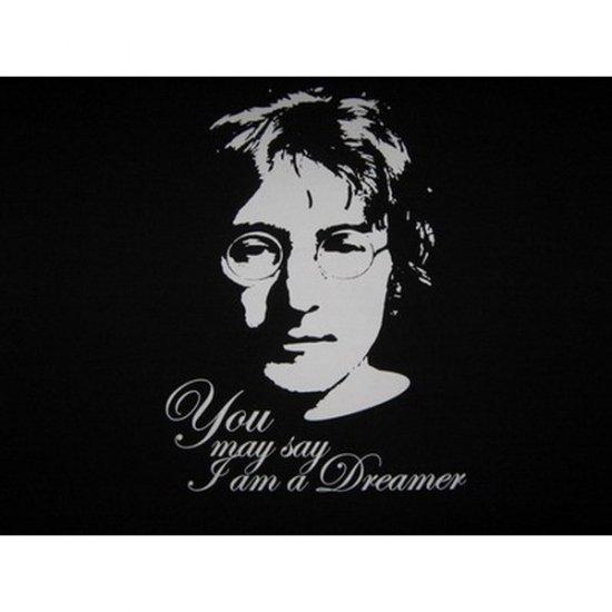 John Lennon  You May Say I am a Dreamer - Black T-shirt