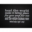 Heal the World, Make It Better Place Michael Jackson - Black T-Shirt