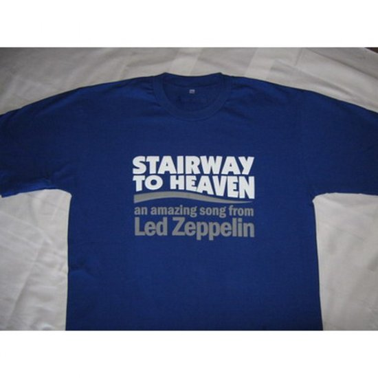 Stairway to Heaven  Led Zeppelin - Blue T-Shirt