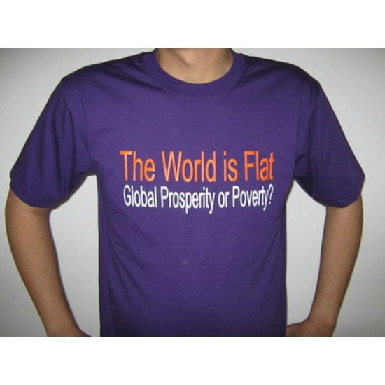 The World is Flat - Blue T-Shirt