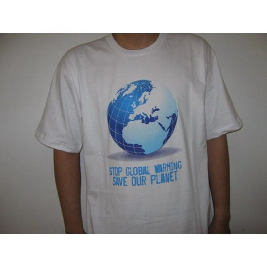 Stop Global Warming, Save Our Planet - White T-Shirt