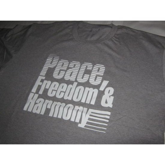 Peace, Freedom and Harmony -  Grey T-Shirt