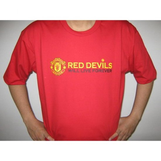 Red Devils  Manchester United   - Red T-Shirt