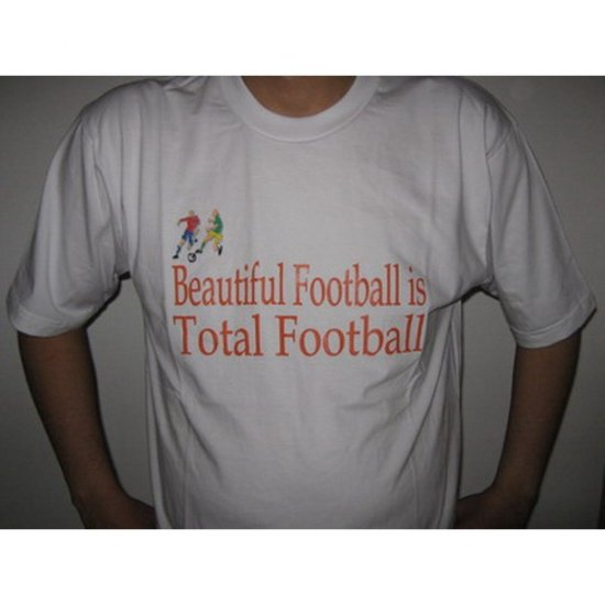 Beautiful  Total Football - White T-Shirt