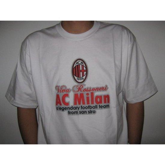 Viva Rossoneri AC Milan FC - White T-Shirt