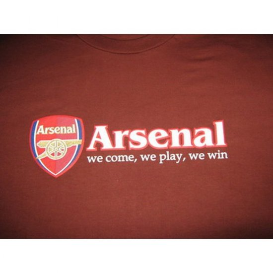Arsenal  We Come, We Play, We Win - Brown T-Shirt