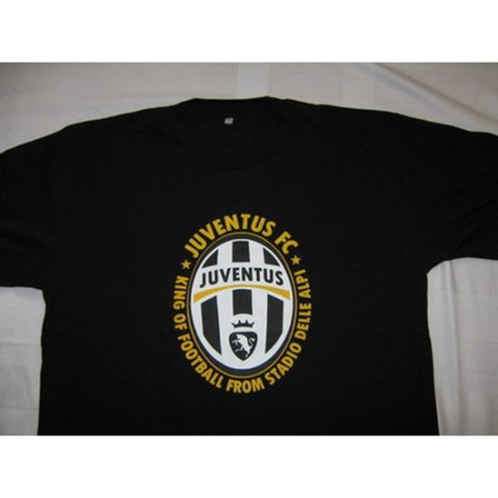 King of Football from Stadio Delle Alpi Juventus - Black T-Shirt