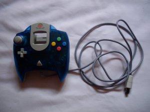 Official Sega Dreamcast Controller Transparent Blue -MINT-