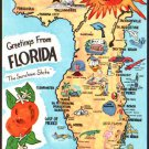 Florida Greetings From Map 1980