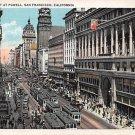 San Francisco, Market Street At Powel  (A40) 1932