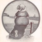 Fat Lady Postcard - The Only Bid of Shade in this place (A187)