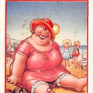 Fat Lady Postcard - I'm Enjoying Myself Like A Big Kid Here - Bamforth (A185)