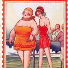 Fat Lady Postcard - There's Not Much In The Way Of Dress Here - Bamforth (A186)